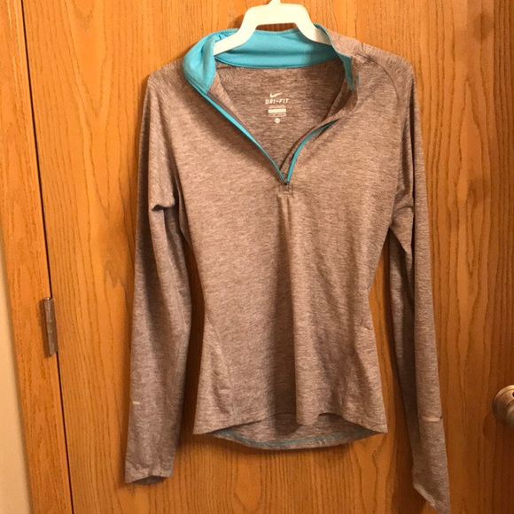 a2ff9df1 Nike Tops | Gray And Sky Blue Xs Dry Fit Longsleeve | Poshmark
